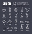 coast guard day outline icon vector image vector image