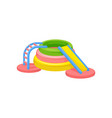 colorful inflatable slide playground concept vector image vector image
