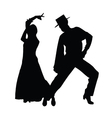 couple dance silhouette vector image vector image