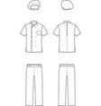 culinary suit vector image vector image