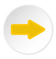 cursor to right icon circle vector image vector image