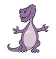 Cute cartoon dinosaur vector image vector image