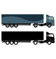 detailed truck silhouette vector image