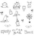 Doodle flat Halloween object vector image vector image