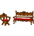 furniture renaissance vector image vector image