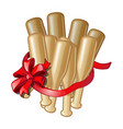 gift in the form of bundles of baseball bats with vector image vector image