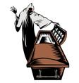 Grim Reaper Death Coffin Retro vector image