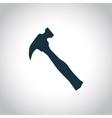 Hammer black icon vector image vector image