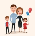 Happy family couple with children vector image vector image
