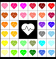 heartbeat sign felt-pen 33 vector image vector image