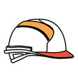 helmet side view color sections silhouette vector image vector image
