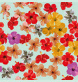 hibiscus flowers pattern seamless background vector image vector image