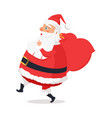 isolated side view santa claus on white background vector image vector image
