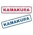 Kamakura Rubber Stamps vector image vector image