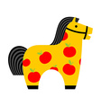 Kids toy horse apples hoss for children vintage vector image