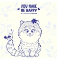 kitten cute vector image vector image