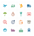 Logistics Icons - Colored Series vector image vector image
