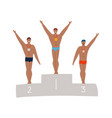 male swimmer on olympic podium handsome athletes vector image vector image