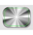 metal button vector image vector image