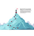 mountain journey path route challenge infographic vector image vector image