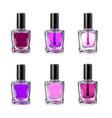 nail polish bottles on white background vector image vector image