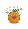 orange kawaii emoticon cartoon vector image vector image