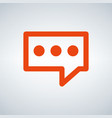 orange speech bubble icon flat design isolated on vector image