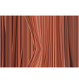 painted red brown slightly half open portieres vector image