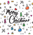 pattern merry christmas new year and christmas vector image vector image