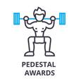 pedestal awards thin line icon sign symbol vector image