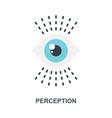 perception icon concept vector image vector image