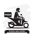 Pizza Delivery Service icon vector image