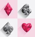 Playing Card Low Poly Style vector image vector image