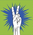 POPART FIST10 vector image vector image