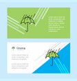 raining and umbrella abstract corporate business vector image