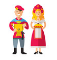 russian people flat style colorful cartoon vector image vector image