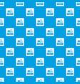 sale cash register pattern seamless blue vector image vector image