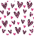 seamless pattern with leopard hearts trendy vector image vector image