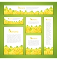 Set of Banan Banners vector image