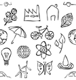 sketch environment seamless pattern vector image vector image