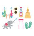 songkran festival elephant sunglasses buddha vector image