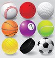 Sport balls eps 8 vector image