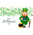 stock leprechaun cartoon character vector image vector image