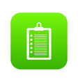 to do list icon digital green vector image vector image