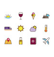 tourism vacations travel related icons set vector image