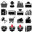 Trade symbol set vector image