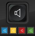 volume sound icon symbol Set of five colorful vector image