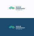 Wave Company logo vector image vector image