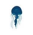 wildlife sea or ocean design element jellyfish vector image