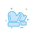 winter gloves icon design vector image